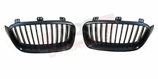 2012 2014 F30 BMW 3 Series Front bumper 2pc grill Unpainted Black ABS Plastic