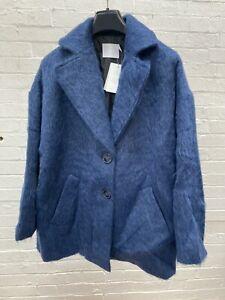 ASOS White - Short Mohair Coat Blue 14
