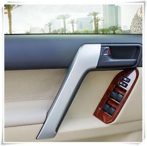 For Land Cruiser Prado J150 2010-2020 Matte Front Door Armrest Cover Trim 2pcs