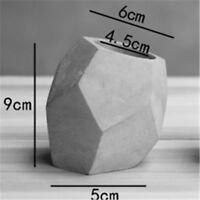 3d geometry cement concrete cactus flower pot mold silicone planter vase mould