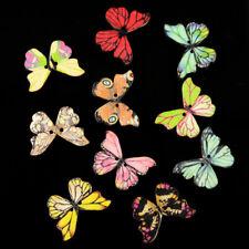 50x Holz Knopf Knöpfe Schmetterling nähen handarbeit Haus Dekor Verschlüsse DIY