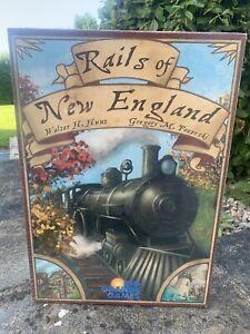 Rails of New England Board Game 2011 Rio Grande Games NEW SEALED EDGE WORN