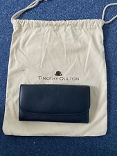 Timothy Oulton Rhodes Travel Leather Wallet Navy XL With Dustbag