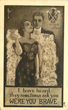 Artist Knights Pithias Fraternal Romance Sexy Couple 1910 Postcard 10794
