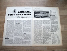 VAUXHALL VELOX AND CRESTA - - ORIGINAL ADVERT POSTER - 1964 - 11 X 8 INS
