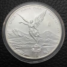2012  MEXICO LIBERTAD SILVER COIN, 1 Oz.999% Purity, Brilliant Uncirculated C#2