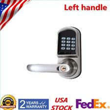 Hot! Home Digital Electronic Smart Key Code Keyless Keypad Door Lock Left Handle