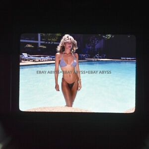 Non Nude 35mm Transparency Slide Female Model Swimsuit Original Pinup 7.4