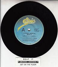 "MICHAEL JACKSON  Beat It  7"" 45 rpm vinyl record + juke box title strip"