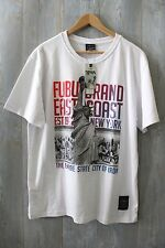 Vintage 1992 FUBU COLLECTION New York Empire State of Iron East Coast T Shirt XL