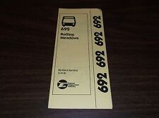 FEBRUARY 1981 CHICAGO RTA ROUTE 692 ROLLING MEADOWS BUS SCHEDULE