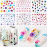 Lots 50 Sheets Nail Art Transfer Stickers Flower 3D Decals Manicure Decoration