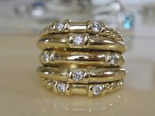 $5200 DAVID YURMAN SOLID 18K GOLD DIAMOND RING