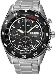 Seiko SNDG57 SNDG57P1 Mens Watch Chronograph Tachymeter NEW WR100m RRP $650.00