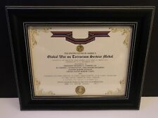 GWOT SERVICE MEDAL COMMEMORATIVE CERTIFICATE w/Free Printing