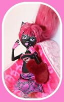 ❤️RARE Monster High CATTY NOIR New Scaremester Black Cat Pink Hair Doll Outfit❤️