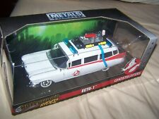 """2018 Jada Toys Diecast ECTO-1 Ghostbusters Car """"Hollywood Rides"""" boxed"""