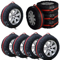 """4Pcs 16""""-22"""" Car Spare Tyre Tire Protection Cover Carry Tote Handle Storage Bags"""