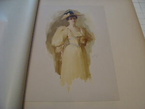 vintage print from 1894: A SKETCH by W L METCALF