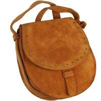 ESPRIT kleine Damen Crossover Tasche Braun Leder Schultertasche Handtasche Bag