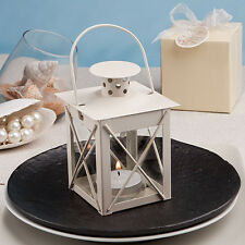 50 Ivory Metal Tea Light Candles Holder Lanterns Wedding Favor Beach Theme Lot