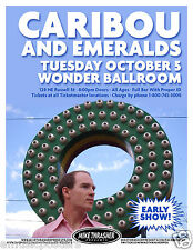 CARIBOU AND EMERALDS 2010 PORTLAND CONCERT TOUR POSTER - Electronica Music