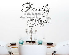 Family Love Wall Quotes decal Removable stickers decor Vinyl DIY Home Art Mural