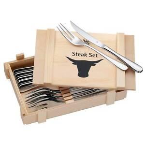 WMF Steakbesteck-Set 12-teilig mit Holzkiste