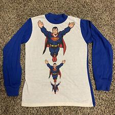 RARE Vintage Rob Roy DC Superman Long Sleeve Shirt Pajama Top Made USA 70s