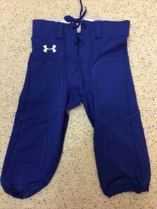 New Under Armour Men's Football Pant - Size Large L - Blue