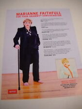 Marianne Faithfull For Your Grammy Consideration Neg. Cap. 2019 Promo Poster Ad