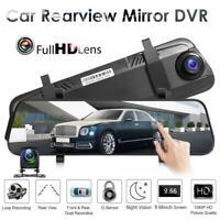 L9602 Dash Cam 9.66 inch Car Rearview Mirror DVR Camera USB Dual Lens Recorder