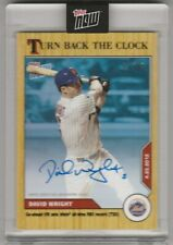 2020 topps now Turn back the clock David Wright AUTO 1/49 New York Mets