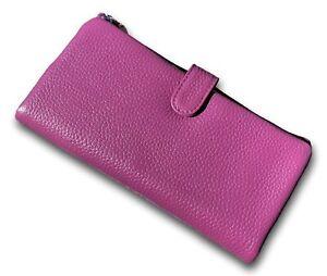 Ladies PURPLE Leather 19cm Wallet