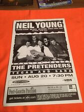 NEIL YOUNG  ORIGINAL  CONCERT  Poster Mint!!   17 X11  PITTSBURGH SHOW