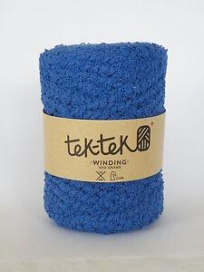 Cotton Bouclé  BLUE New Cotton Knitting Crochet Weaving Rug 120m washable