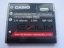 Batterie D'ORIGINE CASIO NP-120 EX-S200, EX-S200BK EX-S200BE EX-S200EO EX-S200PK
