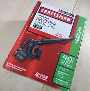 CRAFTSMAN 40V 40 Volt Max Lithium Cordless Sweeper Leaf Blower  NEW