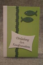 Einladungskarten Kommunion oder Konfirmation HANDARBEIT !!