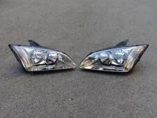 Headlight Head Lamps Left+Right Pair for Ford Focus 2005-2007