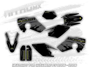 Husaberg FS 450 550 650 2006 2007 2008 06 07 08 Graphics Kit Supermoto Decals