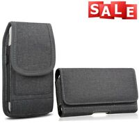 Heavy Duty Case Pouch Holster Cover Carrying Belt Clip Loop For iPhone Samsung