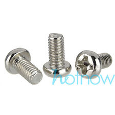 """100 pcs M3 x 6mm Phillips Pan Head Screws for 2.5"""" HDD SSD DVD-ROM Motherboard"""