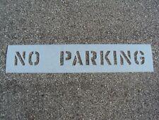 """6"""" NO PARKING Parking Lot Stencil 1/16"""" 60 Mil LDPE Best Mat'l Readable Reusable"""