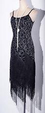 Gatsby 1920's Flapper Dress Sequin&Tassel Black Strap Plus Size 3XL-4XL 4036_k