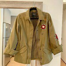 Maison Scotch & Soda Ladies Khaki Embroidery Jacket - Size P (XS/0), Green