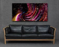 Abstract Lovehearts Rainbow Swirl Whirl Pattern Modern Big Canvas Print Wall Art