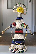Vintage Ndebele Zulu African Beaded Doll Tribal Folk Art