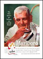 1955 tennis player smoking Marlboro cigarettes vintage photo print Ad  ads7