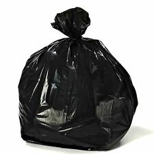 Heavy Duty 42 Gal 3 mil Contractor Trash Bags, 50/Case Garbage Bags (Black)